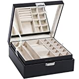 Best Jewelry Box For Women - BEWISHOME Jewelry Box Organizer 40 Section Display Storage Review