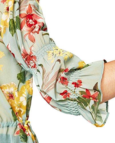 Zara Damen Langes hemd mit blumenmuster 7818/119