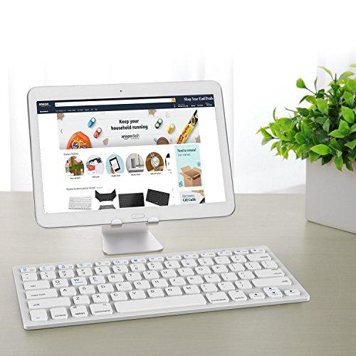 JETech 2156- Universal Bluetooth Wireless Keyboard, Portable, White by JETech (Image #6)