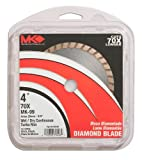 MK Diamond 159106 MK-99 4-Inch Dry or Wet Cutting Turbo Saw Blade with 20-Millimeter or 5/8-Inch Arbor Concrete and Brick