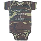Last Night is A Blur Funny Baby Boy Bodysuit Infant - Camouflage - 6 Month