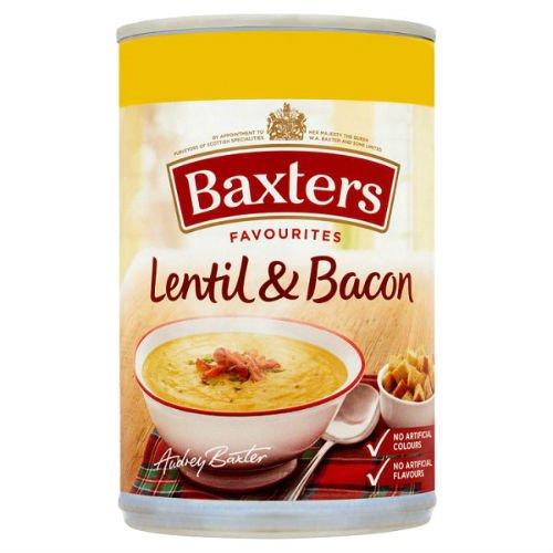 Baxters Favourites Lentil & Bacon Soup 400g Case of 12