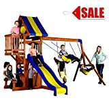 Outside Wooden Swing Sets Playcenter Kids Outdoor Backyard 6 Children Fun Play Summer Games - Skroutz