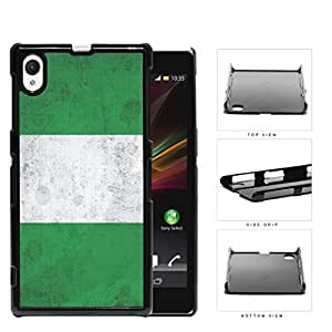 Nigerian Flag Grunge Surface Hard Plastic Snap On Cell Phone Case Sony Xperia Z1