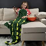 Cozy Crocodile Animal Tail Blanket for Kids Soft