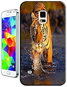 Tiger Case Cover Hard Back Cases Beautiful Nice Cute Animal hot selling cell phone cases for Samsung Galaxy S5 i9600 # 18
