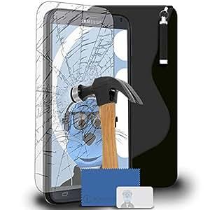 iTALKonline Samsung Galaxy Note 4SM-N910S. TPU S Line Wave Hybrid Gel Skin Case Protección Jelly Tapa, ausgeg lichenes Cristal protector de pantalla y soporte para auriculares 3,5mm Mini Retractable Stylus Pen
