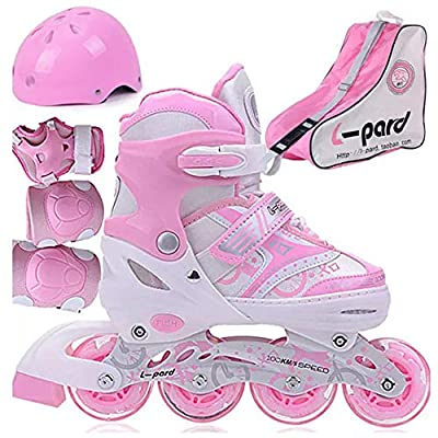 ZMCOV Adjustable Inline Skate, Illuminating Roller Skates, Great for Beginners, Comfortable Roller Skates, Inline Skates for Girls and Boys, Pink, 39~42 : Sports & Outdoors