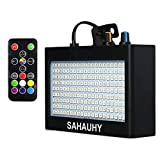 Strobe Lights,SAHAUHY 35W 180 LEDs Super Bright Flash Stage Lighting with Remote Control(Black 180)