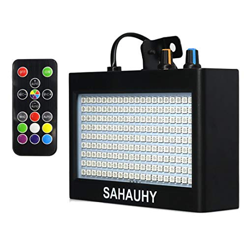 Strobe Lights,SAHAUHY 2019 35W 180 LEDs Super Bright Flash Stage Lighting with Remote Control(Black 2)]()