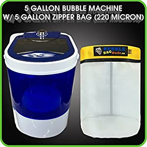 Bubble Bag Machine 5 Gallon Small Mini Compact Washer Extracting Mini Washing Machine with 220 micron Zipper Bag by BUBBLEBAGDUDE