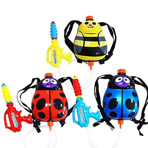 mk. park - Kids Cute Cartoon Ladybug Summer Squirt Super Soaker Water Gun Backpack Toy New