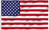 USA Polyester Flags by ANLEY - 3x5 ft - Canvas Header and Brass GrommetsQuality MaterialThis ANLEY [Fly Breeze] American Flag is Made of Light-Weighted and Durable Polyester fabric! The Flag is strengthened by canvas header and two brass grommets to ...