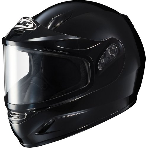 HJC Solid Youth Boys CL-Y Sport Racing Snowmobile Helmet - Black / Small (Snowmobiles Accessories Small)