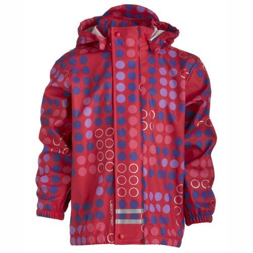 Lego Wear Big Girls' Waterproof Rain Jacket Pink 128cm 7 - 8 Years by LEGO
