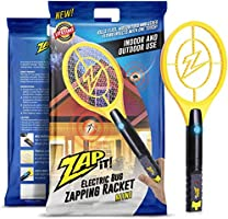 ZAP IT! Mini Bug Zapper - Electric Mosquito, Fly Killer and Bug Zapper Racket - 4000 Volt - Rechargeable Via USB...