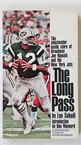 THE LONG PASS BY LOU SAHADI FOOTBALL BOOK JOE NAMATH JETS COVER PAPERBACK