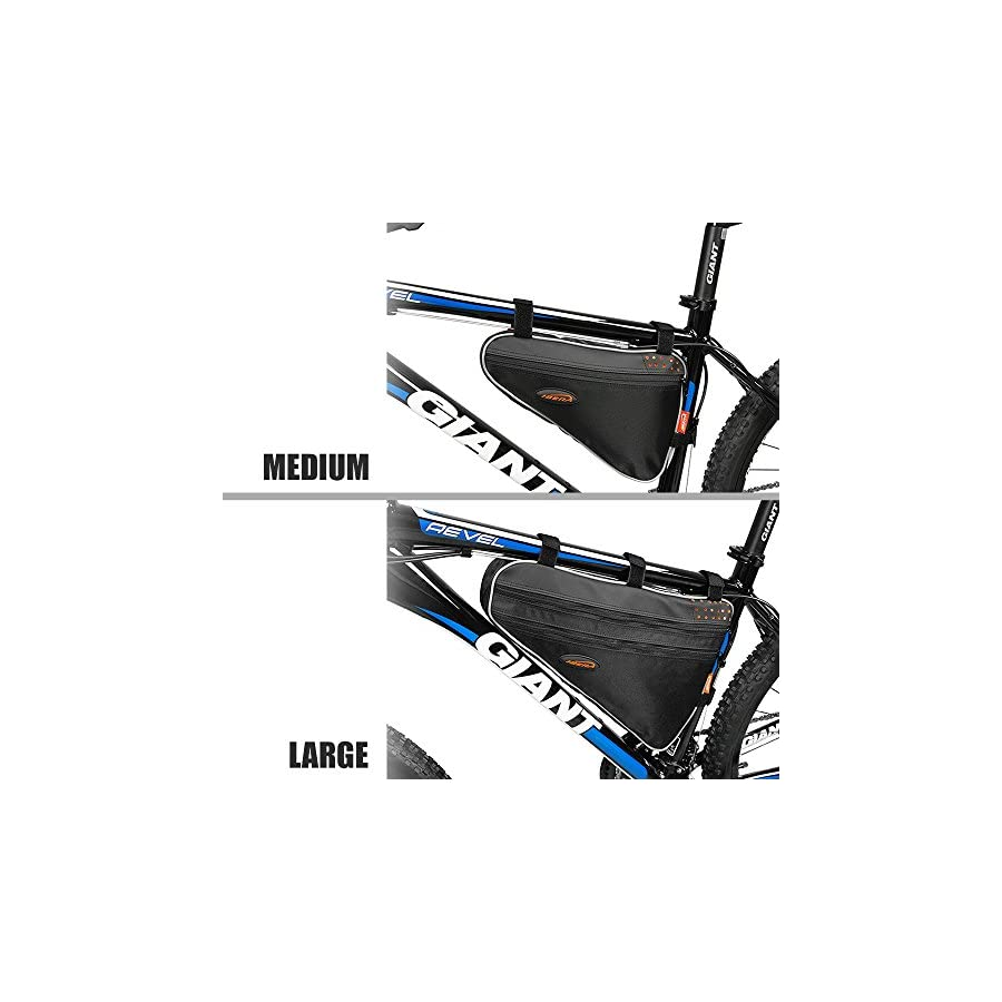Ibera Bicycle Triangle Frame Bag, Bike Top Tube Cycling Corner Pouch