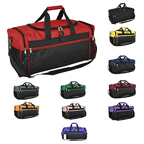 "DALIX 21"" Sports Duffle Bag Gym Travel Pack Black Red Pink Purple Navy Gray Blue"