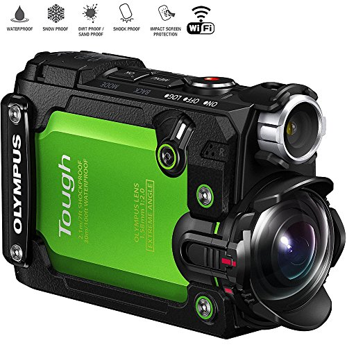 - Olympus Stylus TG-Tracker 4K Action Cam Water/Shock/Freeze-proof Green (V104180EU000) - (Renewed)