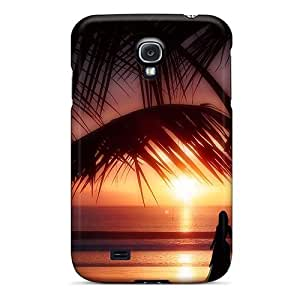 Hot Snap-on Tropical Sunset Hard Cover Case/ Protective Case For Galaxy S4