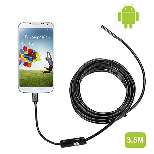 Coocheer Android Smartphone 2Million Pixels 6 LED Waterproof Borescope Endoscope Inspection Tube Camera (5.5MM