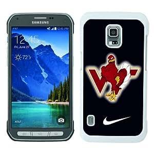 Samsung Galaxy S5 Active Screen Case ,virginia tech hokie 02 White Samsung Galaxy S5 Active Cover Fashion And Unique Designed Phone Case