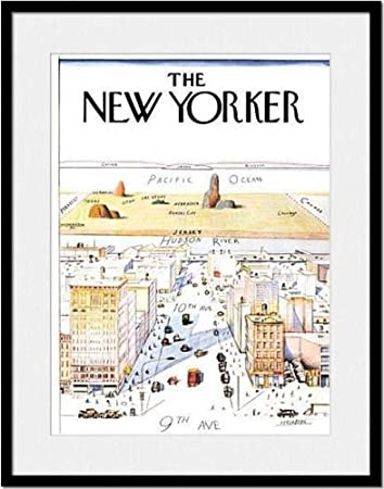 amazoncom view of the world from 9th avenue cover print by saul steinberg published in the new yorker on 3291976 posters prints