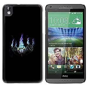 EJOY---Cubierta de la caja de protección la piel dura para el / HTC DESIRE 816 / --Púrpura bola de fuego