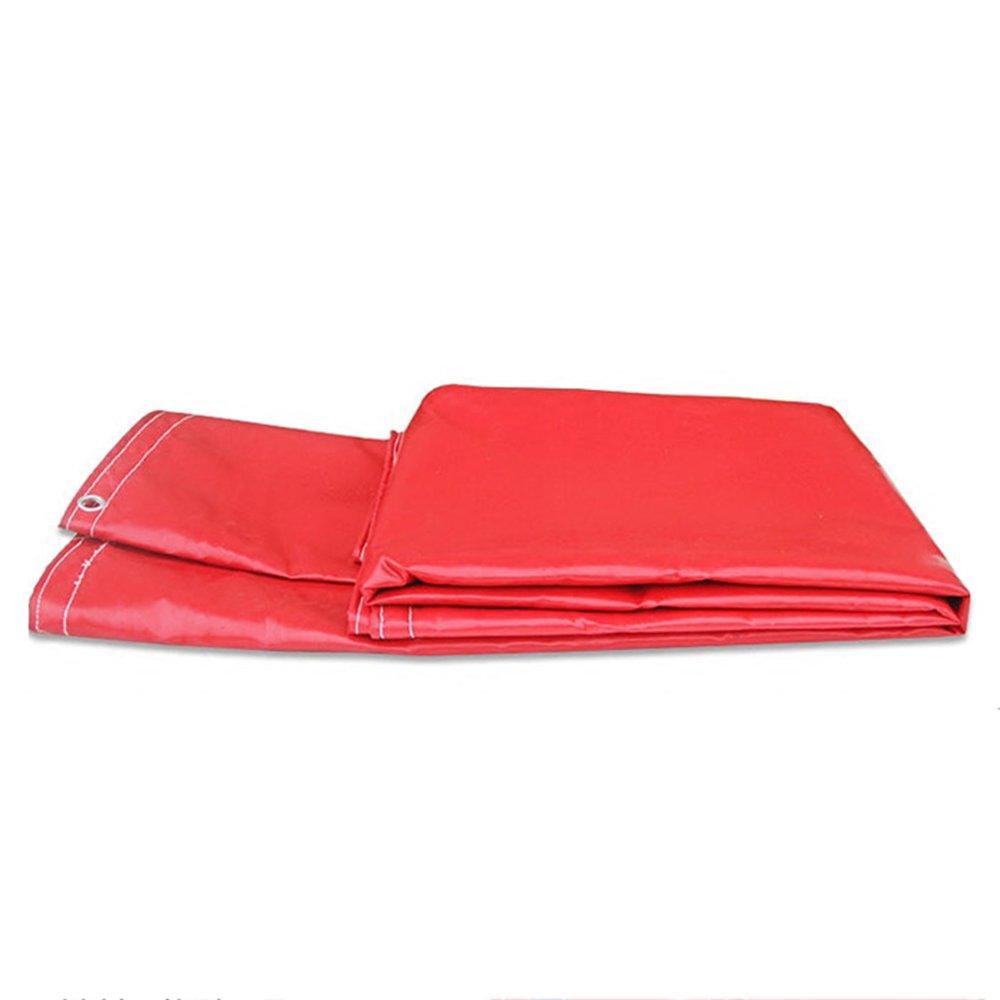 テントの防水シート 防水多機能シェードクロス防水性0.5mm、600g/m² それは広く使用されています (色 : 赤, サイズ さいず : 4*8m) B07D6P6GQQ 4*8m 赤 赤 4*8m