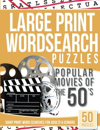 Download Large Print Wordsearches Puzzles Popular Movies of the 50s: Giant Print Word Searches for Adults & Seniors PDF