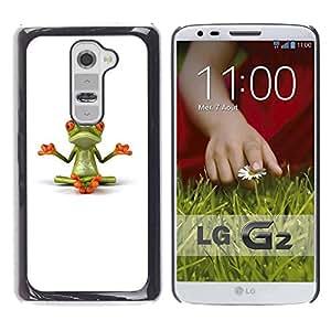 Be Good Phone Accessory // Dura Cáscara cubierta Protectora Caso Carcasa Funda de Protección para LG G2 D800 D802 D802TA D803 VS980 LS980 // Yogi Yoga Meditating Frog Minimalist