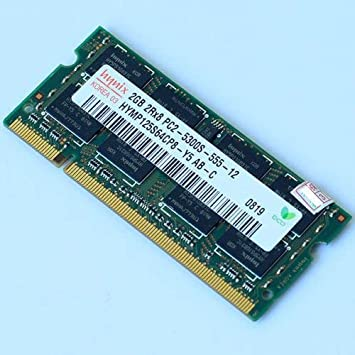 Hynix - Memoria RAM 2 GB para ordenador portátil, 667 MHz, 2 GB, 2RX8 PC2, 5300S-555, 12 SO-DIMM, HYMP125U64CP8-Y5: Amazon.es: Electrónica