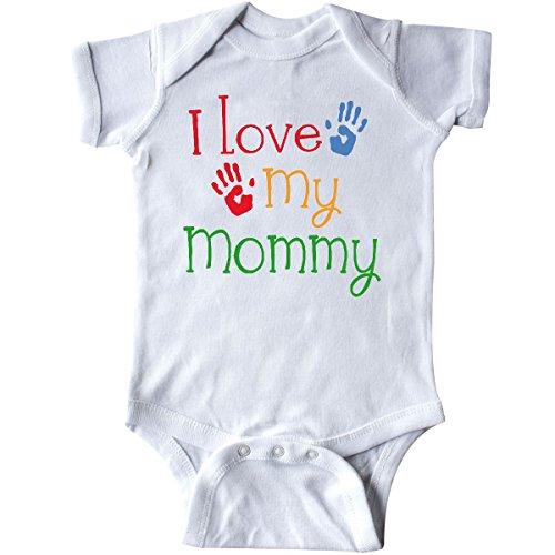inktastic I Love My Mommy Handprints Infant Creeper 6 Months White