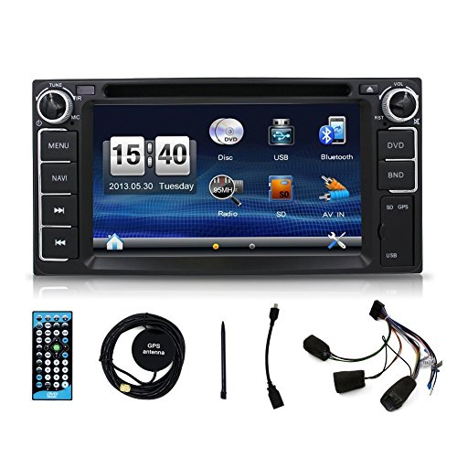 2 din car stereo gps navigation touch screen car dvd for import it all. Black Bedroom Furniture Sets. Home Design Ideas