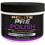 Rolite Pre-Polish (1lb) for Heavily Oxidized, Stained, Discolored and Corroded Metal, Clear Coated and Gel-Coated Surfaces