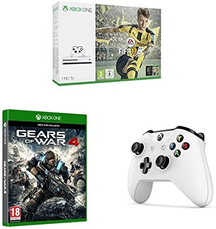 Xbox One - Consola S 1 TB + FIFA 17 + Gears Of War 4 + mando ...