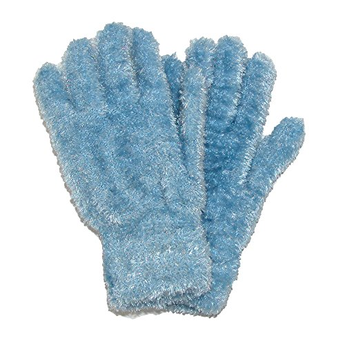 CTM Women's Chenille Solid Winter Stretch Gloves, Blue ()