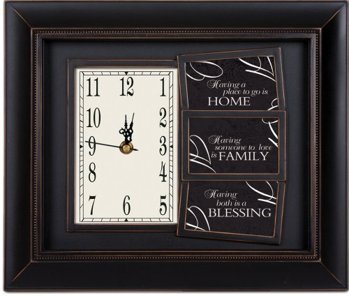 Bless This Home Black Clock - Clock Garden Cottage