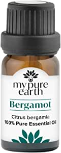Bergamot Essential Oil, 100% Pure, Sustainably Sourced, Organically Crafted, Aromatherapy, My Pure Earth, 10ml,MPE-Bergamot