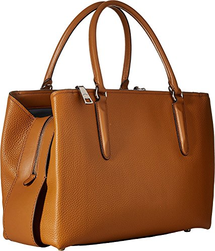 Carryall Saddle 34 Brooklyn COACH Womens Pebbled Sv qw1HS