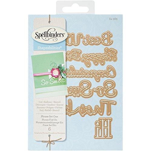 (Spellbinders S4-563 Shapeabilities Phrase Set, Large Etched/Wafer Thin Dies)