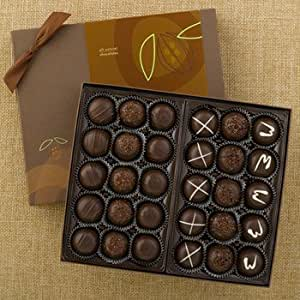 Lake Champlain Dark Chocolate Truffles Gift Box, 30 Pieces, 1.5 Pounds
