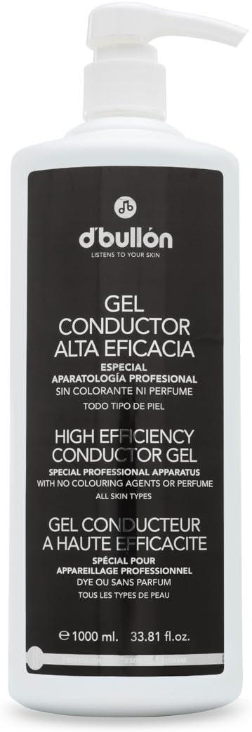 D'Bullón Gel Conductor para uso profesional (ultrasonidos, electroterapia,etc). Alta eficacia. Gel de contacto - 1000 ml