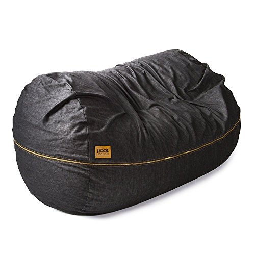Jaxx 7 ft Giant Bean Bag Sofa, Black Denim
