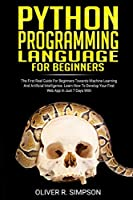 PYTHON PROGRAMMING LANGUAGE FOR BEGINNERS Front Cover