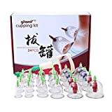 24 Cups Traditional Chinese Vacuum Suction Cupping Therapy Set/Massage Cupping Kit