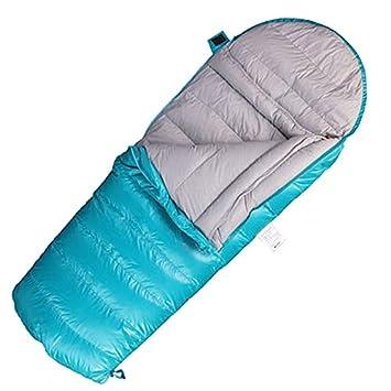 XHHWZB Saco de Dormir de Niños Sobre Blanco de Ganso para Niños Camping Azul Rosa de Dos Vías Cremallera 160 * 70 cm (Color : Blue): Amazon.es: Deportes y ...