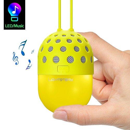 Lightstory Mini Speaker with Colorful LED Light, for Kids Boys Girls (Yellow) by LIGHTSTORY