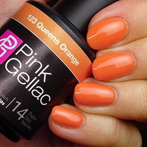 Pink Gellac #123 Queens Orange Soak-Off UV / LED Gel Polish